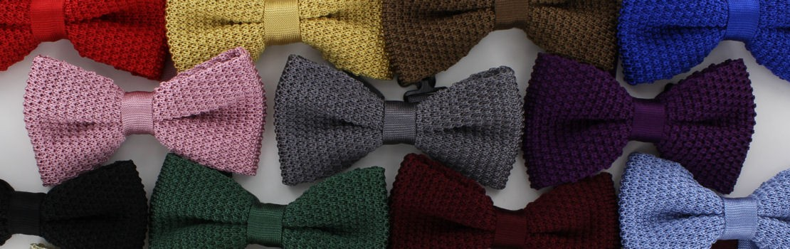 Brown Michelsons of London Mens Silk Knitted Bow Tie